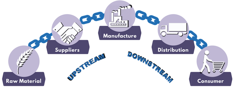 Supply Chain Activities Upstream vs. Downstream